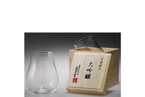 Sakeglas Shotoku Usuhari Daiginjo 250ml MIT HOLZBOX 4