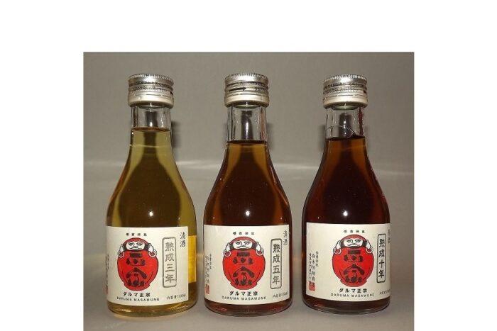 Daruma Masamune Aged Junmai Sake-Set 3 Jahrgänge à 180ml 1