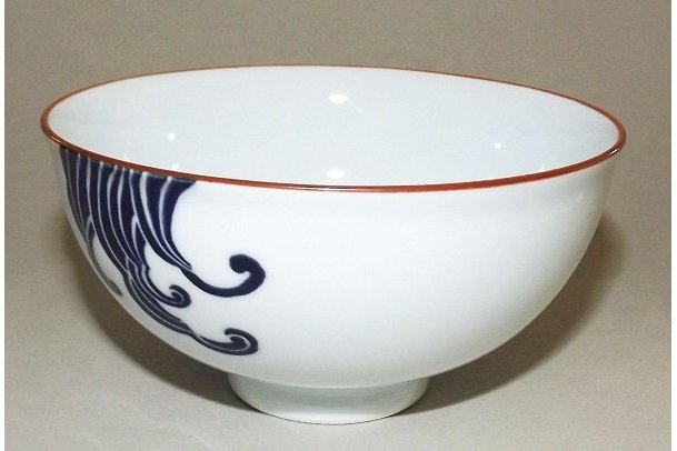 Keramik Reis-Schale Nami shiro 1