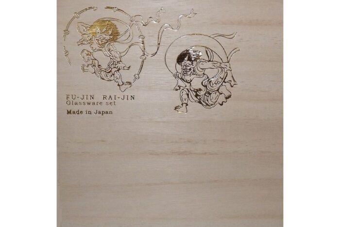 Paar-Set Fujin /Windgott + Raijin /Donnergott im Holzkasten 1