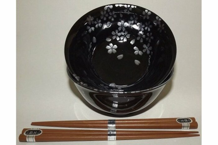 Suppen-Reis-Schalen Sakura Ginsai für 2 Personen 1