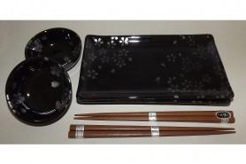 Suppen-Reis-Schalen Sakura Ginsai für 2 Personen 9