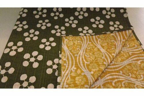 Furoshiki Rikyubai green/yellow 48 cm 23