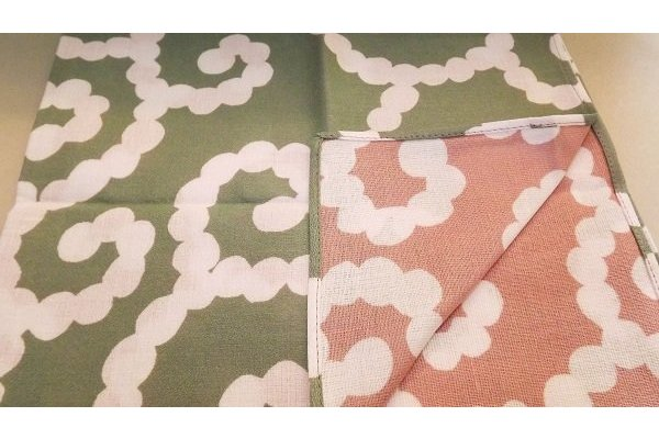 Furoshiki Karakusa Moss lightgreen/lightrose 50 cm 1