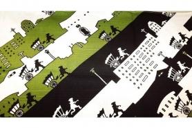 Furoshiki Karakusa limegreen 48 cm 8