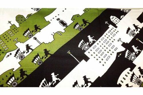 Furoshiki Kyoto Nights black/green 50 cm 9