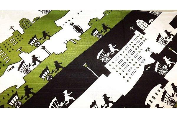 Furoshiki Kyoto Nights black/green 50 cm 1