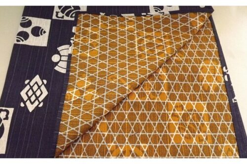 Furoshiki dunkelblau/gold 48cm 5