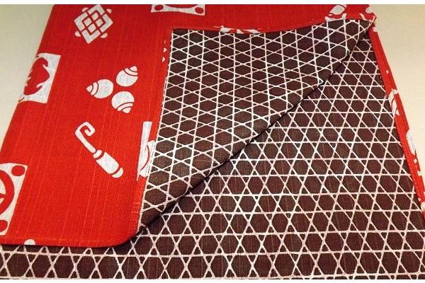 Furoshiki rostrot/dunkelbraun 48 cm 1