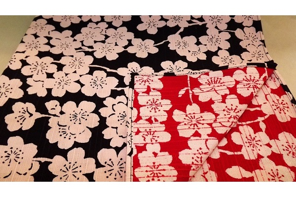 Furoshiki Sakura darkblue/red 48 cm 1