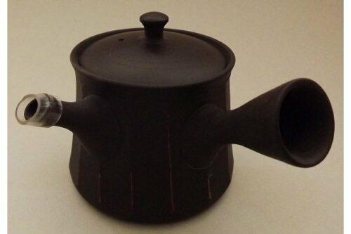 Kyusu-Teekanne Keramik Shima akakuro 150 ml 7