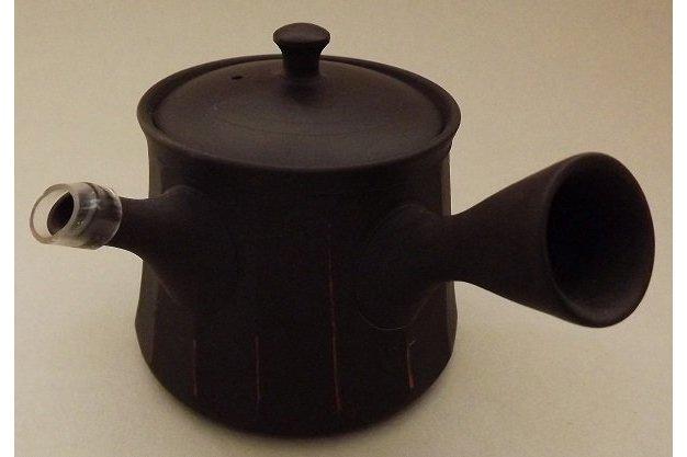 Kyusu-Teekanne Keramik Shima akakuro 150 ml 1
