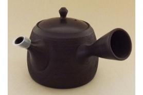Teekanne Kyusu Kuro geschabt 365 ml 10