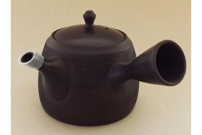 Teekanne Kyusu Kuro geschabt 365 ml 1