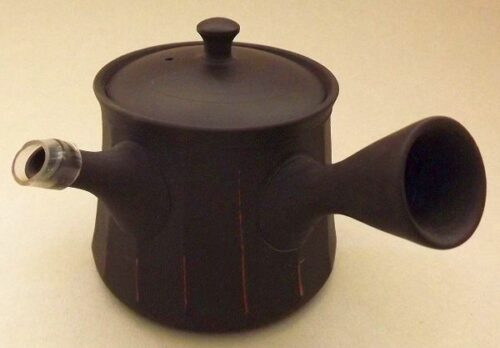 Kyusu-Teekanne Keramik Shima akakuro 150 ml 10
