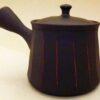 Kyusu-Teekanne Keramik Shima akakuro 150 ml 3