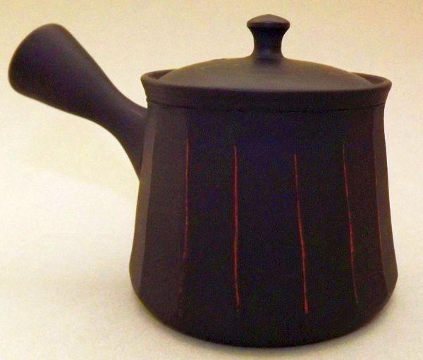 Kyusu-Teekanne Keramik Shima akakuro 150 ml 2