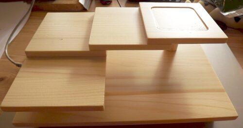 Sushi-Etagere aus Holz 2