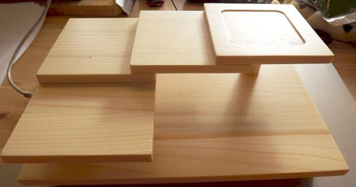 Sushi-Etagere aus Holz 1