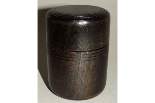 Teedose Holz schwarzbraun 100g 2