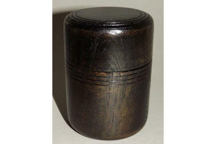 Teedose Holz schwarzbraun 100g 1