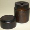 Teedose Holz schwarzbraun 100g 3