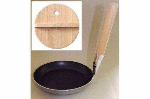 Donburi Pan 17 cm Antihaft MIT Holzdeckel 15 cm - für Gas, Elektro + Induktion 12