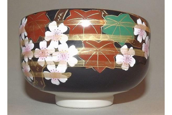 Matchawan Sakura in Holzbox - Kutaniyaki 3