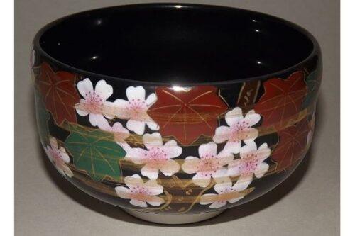 Matchawan Sakura in Holzbox - Kutaniyaki 4