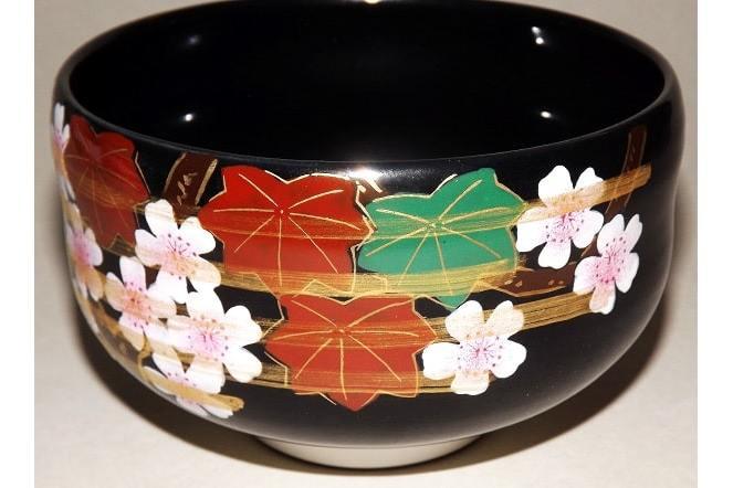 Matchawan Sakura in Holzbox - Kutaniyaki 2