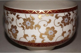 Keramik Platte-Teller Oribe Uchiwa 11