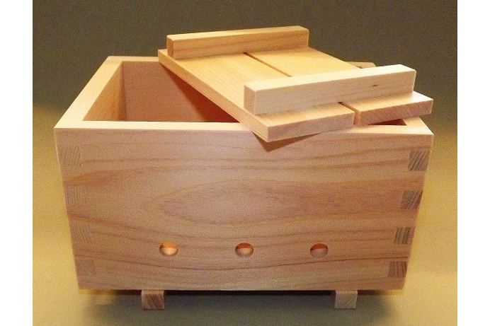 Tofu-Presse HQ Hinoki 3-teiliges Set 1
