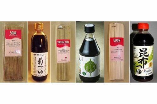 Nudel-Starter Udon + Soba + Yomogi-Soba + 3er-Brühekonzentrater-Set 5