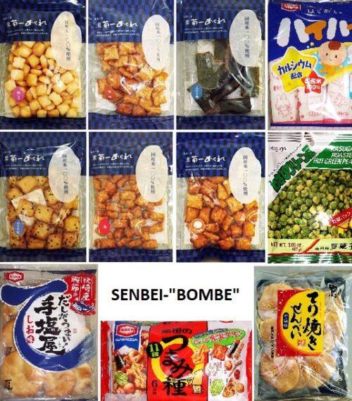 """SENBEI-""""BOMBE"""" - ein ganzer Karton voll japanischer Reiscracker 2"""