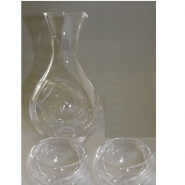 Keramik Sake-Test-Set weiß-blau 4 tlg. 8