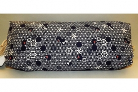 Makura Traditionelles Kopfkissen 40 cm Shibori dunkelblau/beige 7