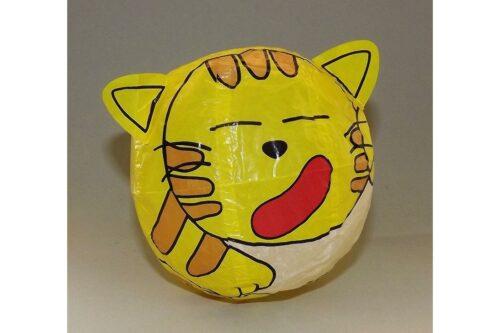 """Magischer"" Papierball Katze gelb 3"