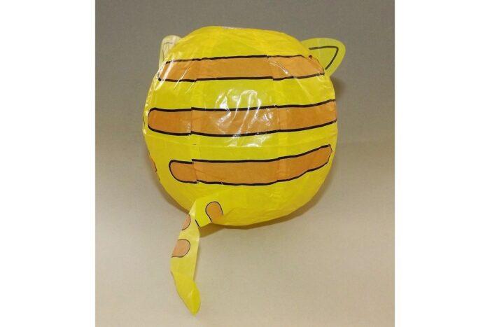 """Magischer"" Papierball Katze gelb 1"