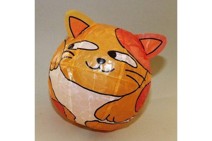 """Magischer"" Papierball Katze orange 1"