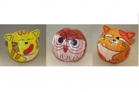 """Magischer"" Papierball Katze orange 9"