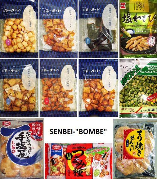 """SENBEI-""""BOMBE"""" - ein ganzer Karton voll japanischer Reiscracker 9"""