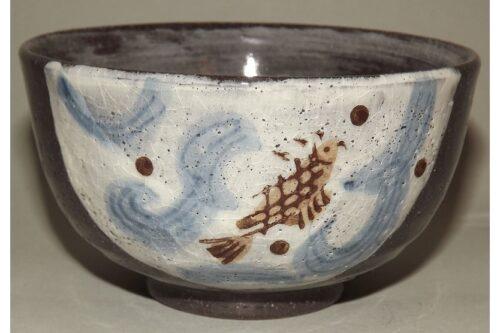 Keramik Reis-Schale Koi 36