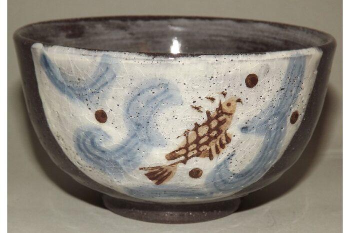 Keramik Reis-Schale Koi 1