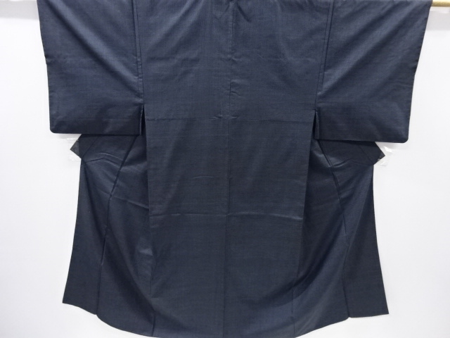 Kimono Set mit Haori Shiborikaro II - Seide antik schwarz-dunkelblau 1