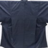 Kimono Set mit Haori Shiborikaro II - Seide antik schwarz-dunkelblau 2