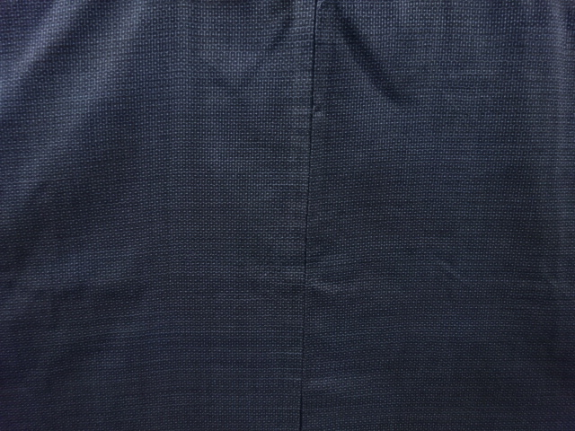 Kimono Set mit Haori Shiborikaro II - Seide antik schwarz-dunkelblau 3