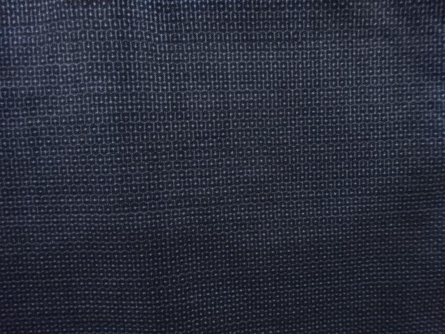 Kimono Set mit Haori Shiborikaro II - Seide antik schwarz-dunkelblau 4