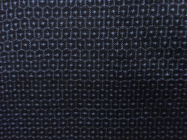 Kimono Set mit Haori Shiborikaro II - Seide antik schwarz-dunkelblau 6