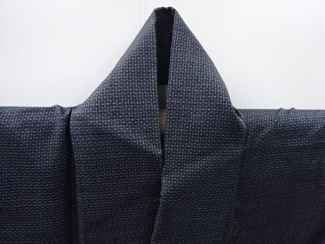Kimono Set mit Haori Shiborikaro II - Seide antik schwarz-dunkelblau 12