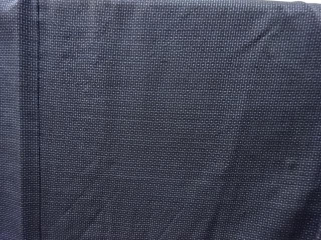 Kimono Set mit Haori Shiborikaro II - Seide antik schwarz-dunkelblau 13